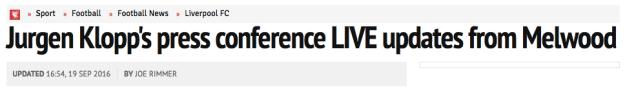 Jurgen Klopp's press conference LIVE updates from Melwood