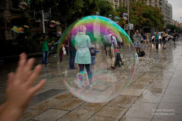 Bubble in street