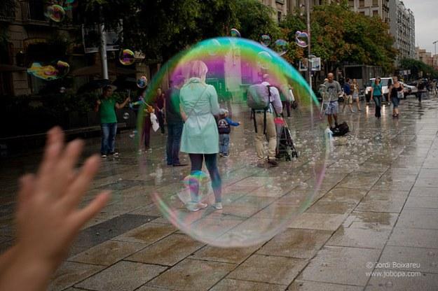 Bubble in street