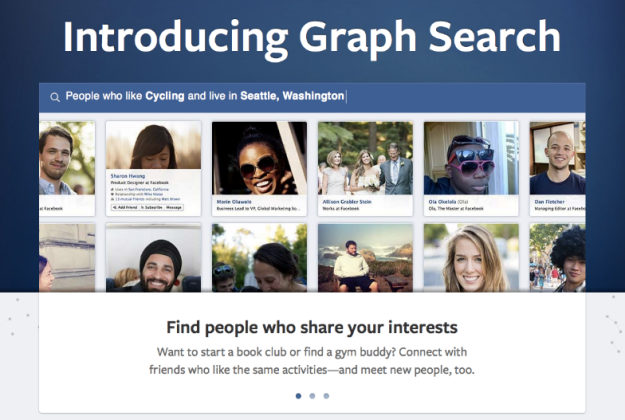 Facebook Graph Search in 2013