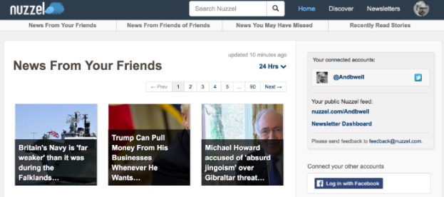 Nuzzel news from your friends