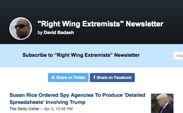 right wing extremists newsletter