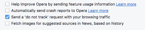 Opera do not track