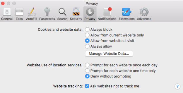 safari do not track