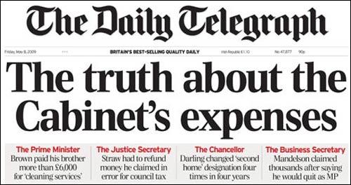 telegraph expenses data journalism