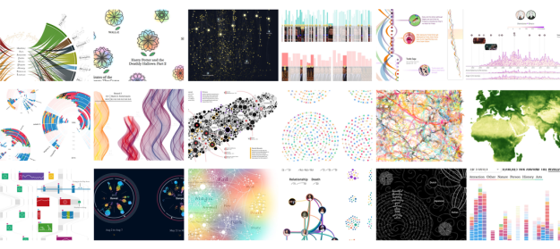 Gold in Unusual category for Data Sketches in Twelve Installments by Nadieh Bremer, Shirley Wu Unusual