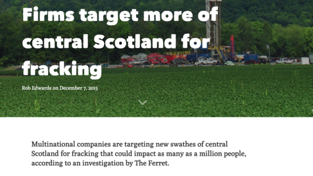 Firms target more of central Scotland for fracking