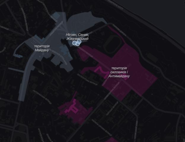 maidan revolution map
