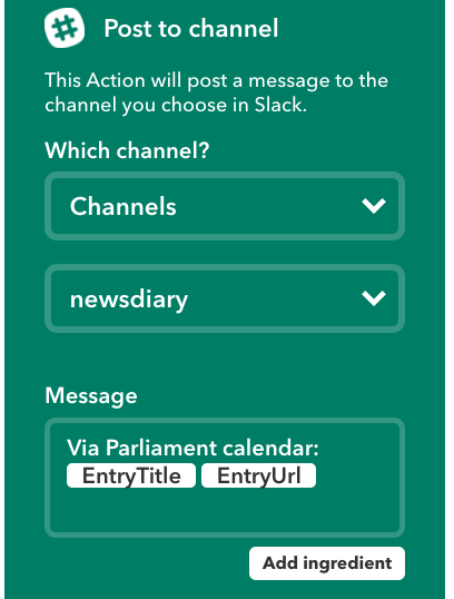 slack options ifttt