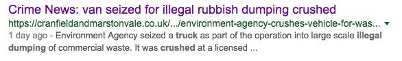 Crime News: van seized