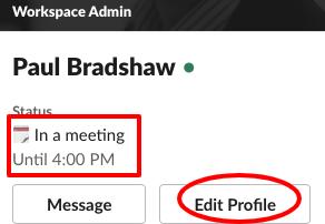 Profile image with status