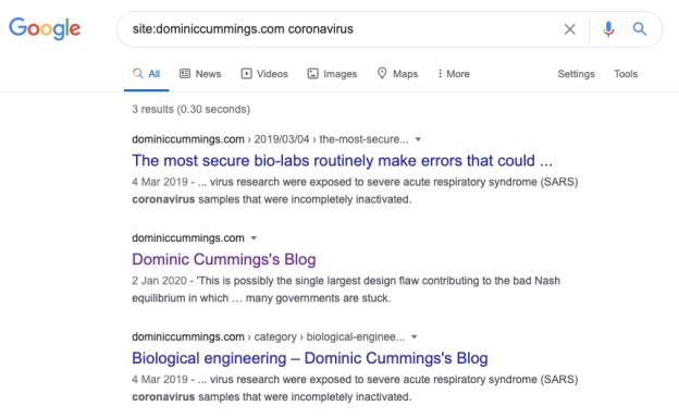 site:dominiccummings.com coronavirus