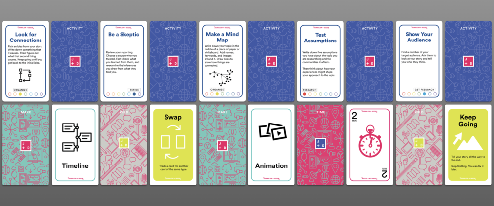The Journalism+Design card deck