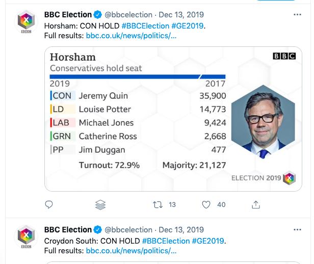 BBC election tweets